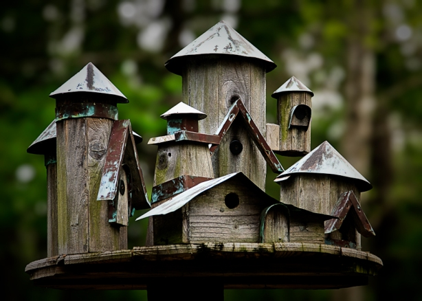 large decorative bird house plans